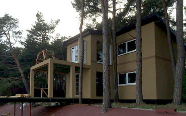 Дом на сваях на Куршской косе
